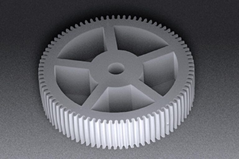 A gear wheel patterned in 800 µm thick SU-8 demonstrates the capability of MLA150 to create vertical sidewalls in thick resists. MEMS (Microelectromechanical systems) usually comprise a combination of microprocessor and functional components. MEMS may feature tuning forks, gear wheels, piezoelectric material, bio-, chemical or pressure sensors, or other miniaturized physical devices.  (Courtesy of Heidelberg Instruments)