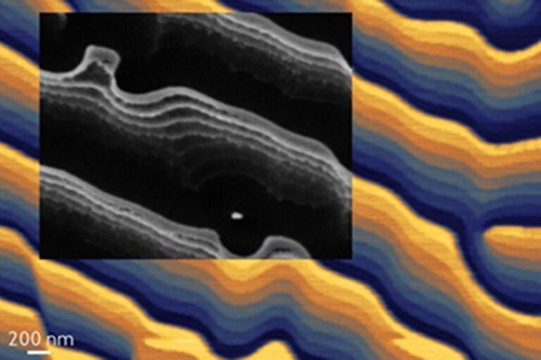 3D computer-generated 8-level hologram patterned in PPA and etched into Si (inset). Reactive ion etching enabled depth amplification from 70 nm to 700 nm.