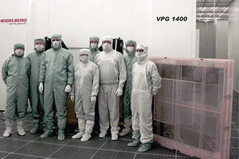 Since 2007, VPG systems and their successors, the VPG+ systems, proved to be the ideal solution for the high-volume production of demanding photomasks — especially for electronic packaging, color filters, light emitting diodes, and touch panels. As a master template for photolithographic manufacturing, such photomasks have to fulfill highest requirements for the line width uniformity, pattern position accuracy, edge roughness and minimum feature size.