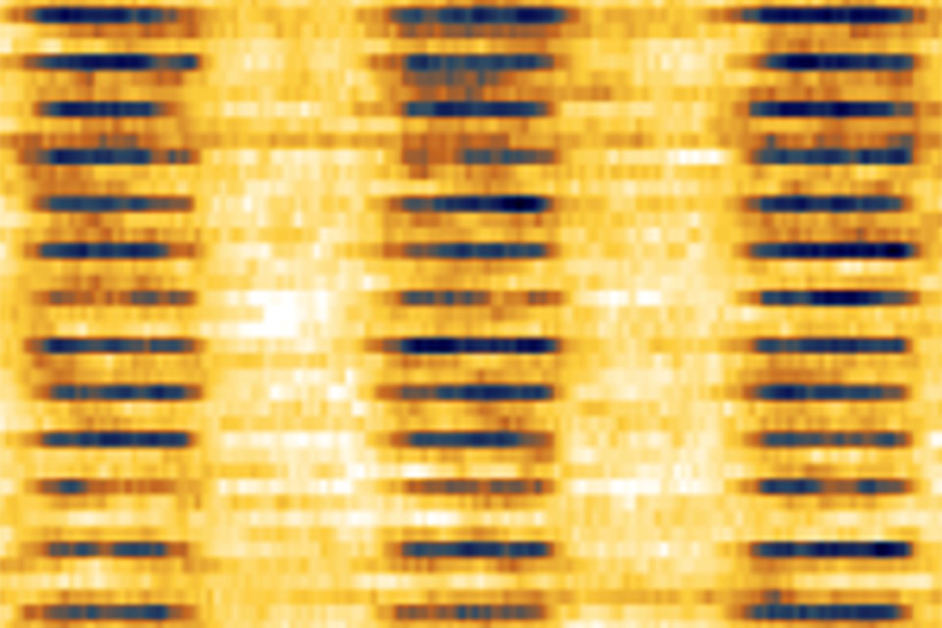 NanoFrazor lithography at its (current) limits. The NanoFrazor AFM image shows linletts with 8.7 nm half-pitch written 2-4 nm deep into PPA. (Pattern transfer was not demonstrated yet at this high feature density PPA structures)