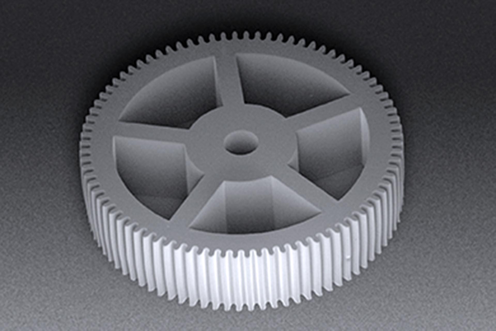 High-aspect ratio gear wheel